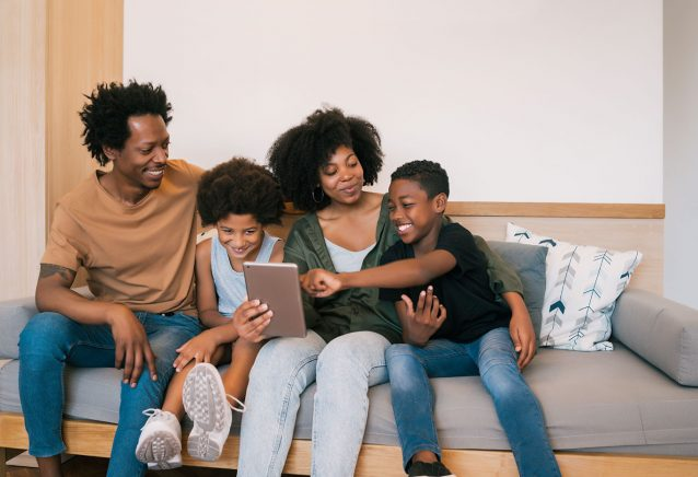 portrait-african-american-family-taking-selfie-together-with-digital-tablet-home-family-lifestyle-concept